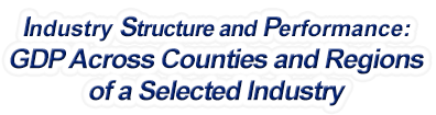 Ohio - Gross Domestic Product Across Counties and Regions of a Selected Industry